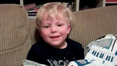 Adorable Boy Laughs At His Own Knock-Knock Jokes