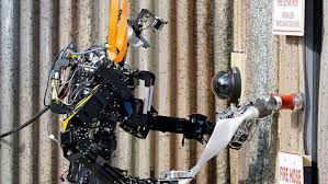 US Navy unveils firefighting robot